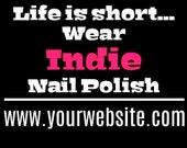 Car Window Vinyl Decal Indie Nail Polish Advertisement Customize