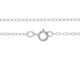"Sterling Silver 2x1.5mm 16"" cable neck chain - 1pc  Finished chain 10% discounted 925 stamped (4214)/1"
