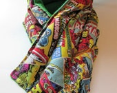 LONG Hot/Cold Therapy Neck Wrap Marvel Comicbook Pages