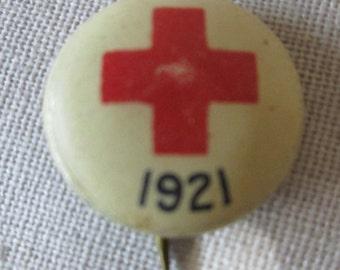Vintage 1921 Red Cross Pin WWI World War I World War II World War 2 Collectible (2 of 2)