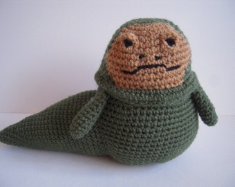 Crocheted Stuffed Amigurumi Star Wars Jabba the Hutt Plush Toy