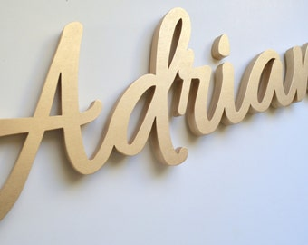 Wooden Name Sign - Personalized Nursery Name Sign - Custom Name