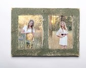 2 hole 5x7 Barnwood Collage Frame-Rustic Picture Frame-Home Decor Frames-Reclaimed-Cottage Chic-Collage Frame-Picture Frames
