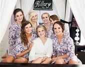 Bridesmaid Robes. Kimono. Bridal Robe. Bridesmaids Robes. Kimono Robe. Wedding. Bridesmaid's Gift. Joie de Vivre Collection. Knee Length.