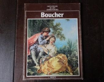 Vintage French Large Paperback Art Reference Magazines Painter Boucher Chefs-D'Oeuvre De L'Art Grand Peintres circa 1979 / English Shop