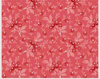 American Patch Dark Pink Red Berries by The Rocky Mountain Quilt Museum for Washington Street Studio of P & B Textiles