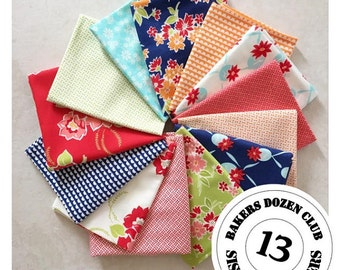 Bakers Dozen Miss Kate Fat Quarter Bundle Group #2 by Bonnie & Camille for Moda - 13 Fat Quarter for the Price of 12!