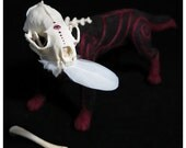 Mink Ghost - One of a Kind Mixed Media Art Doll