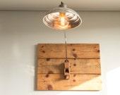 Wall mounted lamp, Aluminium lampshade, Steampunk lamp, Upcycled lamp, Industrial lighting, Carpenters' plane lamp, Cool lamp, Handmade lamp