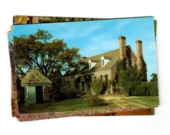 8 Vintage George Washington Birthplace National Monument Virginia Chrome Postcards Blank - Travel Themed Wedding Guestbook