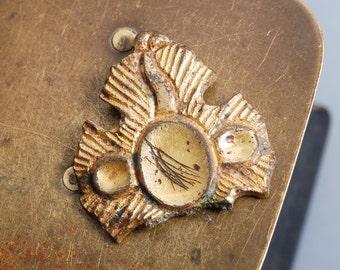 Vintage casting brass plate, decor plate,  embellishment
