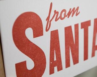 from Santa Letterpress Card