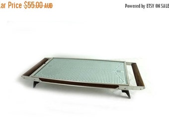 ON SALE Vintage 1970s retro teak and glass Ranleigh Hot tray food warmer, retro serving, Salton Hottray food warmer.