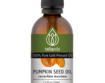 Pumkin Seed Oil - 100% Pure Cold Pressed, Virgin. Emollient Oil Rich in Vitamins A, C, E and K and Zinc 1.7 Oz / 50 Ml
