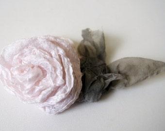 Hairpin white rose - romantic bride - bridesmaid flowers - silk rose - silk flowers