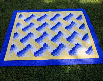 Blue and Yellow Throw