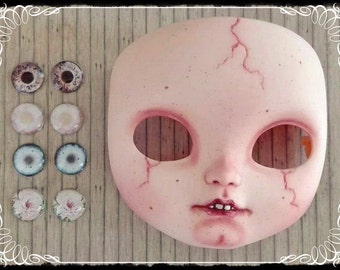 GHOSTLY Girl EYE CHIP set of 4 for Blythe or Icy Doll by Antique Shop Dolls
