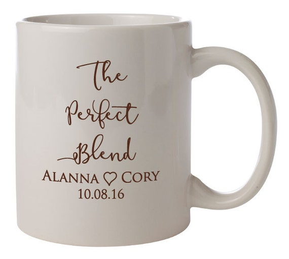 ... Mugs PERSONALIZED Wedding Favors Gifts Vitrified Ceramic Coffee Cocoa