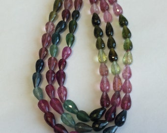 Tourmaline Faceted Tear Drops-7x4mm