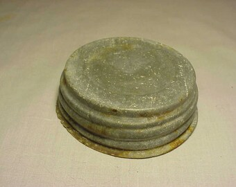 Original c1880s C.F.J.Co. Consolidated Fruit Jar Company Mason's Patent Nov. 30th 1858 Zinc Cover Lid No. 4