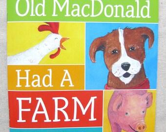 Old MacDonald Had a Farm, Children's Picture Book, Farm Animals, Animal Art, Animal Sounds