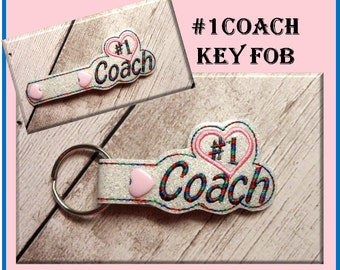 In  the hoop Key Fob #1 Coach Embroidery Machine Design