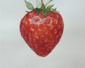 Strawberry Original Signed Watercolor Botanical Art