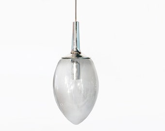 Mid Century German Large Clear Glass Ceiling Lamp - Peill & Putzler 70s