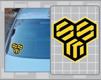 MACROSS SMS Logo vinyl decal from Robotech Macross Anime Sticker