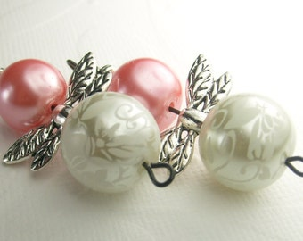 Shabby Chic Pearl Angel Earrings