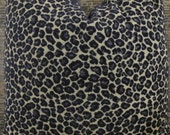 3BM Designer Pillow Cover Lumbar, 16 x 16, 18 x 18, 20 x 20, 22 x 22 - Leopard Navy Chenille