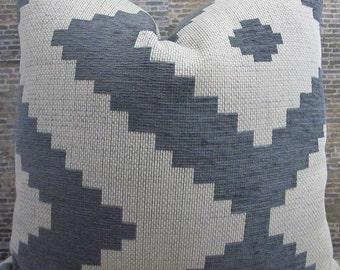 3BM Designer Pillow Cover Lumbar, 16 x 16, 18 x 18, 20 x 20, 22 x 22, 24 x 24, 26 x 26 - Pixel Gray & Ivory