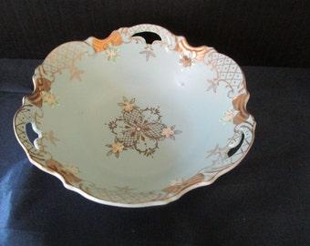 """Lenwile Ardalt Blue Bisque Porcelian Bowl - Japan 7"""" Bowl"""