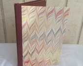 Tablet Cover for 5 x 8 legal pad - waxed marbled paper cover