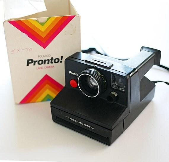 Vintage Polaroid Pronto Land Camera - SX70 Sonar One Step 1970s - In Original Box