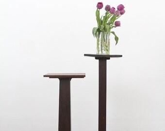 SALE antique plant stand, Arts & Crafts pedestal table