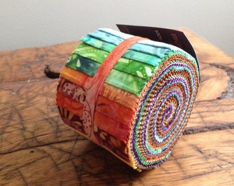 Anthology Batik Fabric BeColourful Story Strips Jelly Roll, Quilting, BA212-170