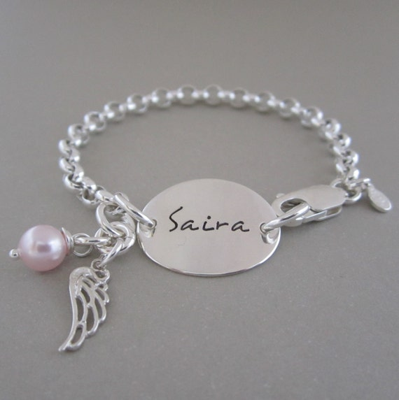 Personalized Bracelet Little Girl Bracelet Baby Gift   Personalized Baby Jewelry For Girls