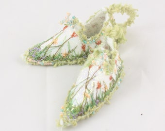 Christmas tree decoration Fairy Shoes Ornament flower fairy garden Coral tulip floral tree fairy decoration holiday ornament home decor