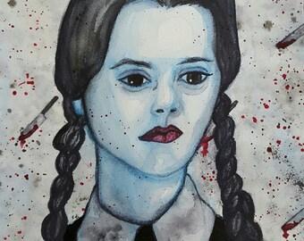 Wednesday Addams (print)