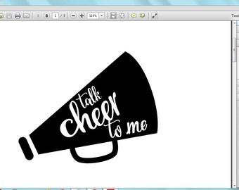 Talk cheer to me megaphone