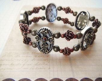 Steampunk Cross Bracelet