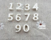 From 0 to 9--50 pcs Number bead charms, sterling  silver plated three D Arabic Numerals, Arabic Numbers, Digital Signs