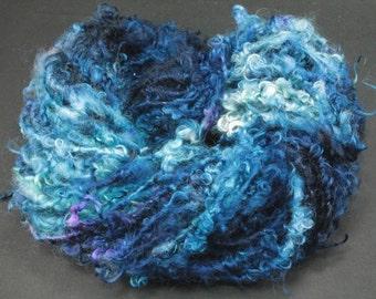 Handspun art yarn Teeswater  locks, 5.2 oz, 37 yards