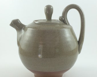 Wood Fired Hand Thrown Stoneware Pottery Teapot  (YCP644)