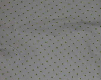 White and Green Polka Dot Crib/Toddler Bed Fitted Sheet