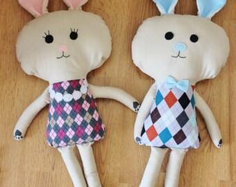 READY TO SHIP - Mrs. Hops - handmade bunny plush