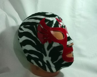 Mil Mascaras Zebra Wrestling Mask Lucha Libre Mask Halloween day of the dead luchador Mardi Gras Mask the walking dead masquerade Star Wars