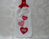Hanging Double Kitchen Live Laugh LoveTowel Valentine Towel Heart Towel Crochet Hanging Kitchen Towel