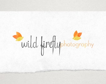 Premade Logo // Logo Design // Business Logo //  Photography Logo // Watercolor Logo // Firefly Logo